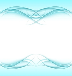 Abstract turquoise frame - data stream concept vector