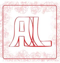 Al monogram vector