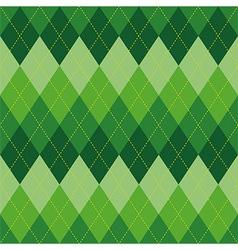 Argyle pattern green rhombus seamless texture vector image vector image