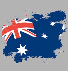 Australia flag grunge style on gray background vector