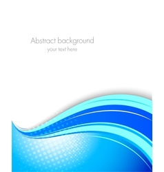 Blue wavy background vector image vector image