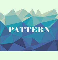 blue white polygonal mosaic background vector image