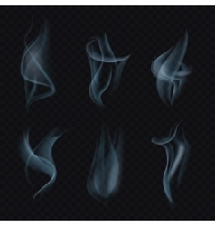 Cigarette smoke or mist on transparent background vector image