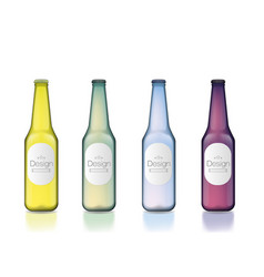 colorful bottle template set vector image