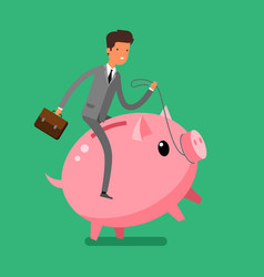 concept of saving money vector image