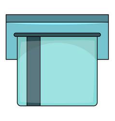 credit card atm icon cartoon style vector image vector image