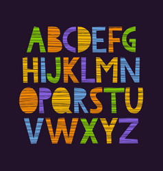 cute hand drawn alphabet vector image vector image