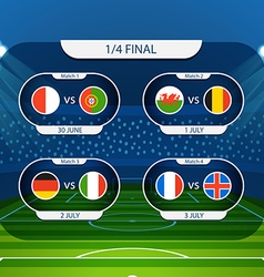 Different country flags collection football vector