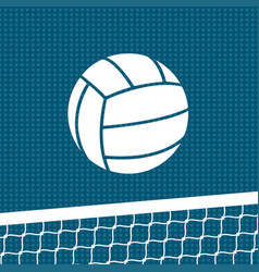 flat volleyball background vector image vector image