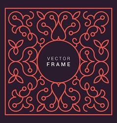 Floral frame line art design template vector