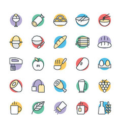 Food cool icons 7 vector