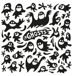 funny ghosts vector image vector image
