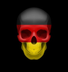 German flag skull vector