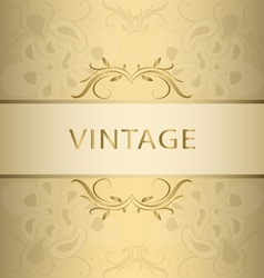 Golden vintage frame vector