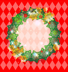 holiday red frame vector image vector image