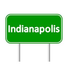 Indianapolis green road sign vector