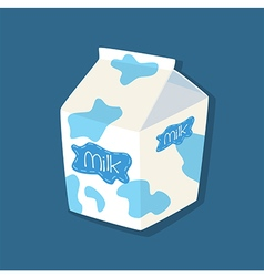Milk Packaging in Blue Background vector image vector image