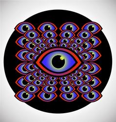 Psychedelic eye vector