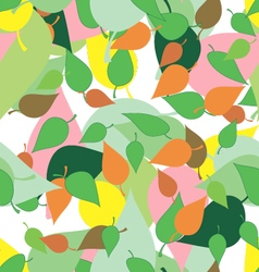 Seamless pattern with colored leaves and blots in vector image vector image