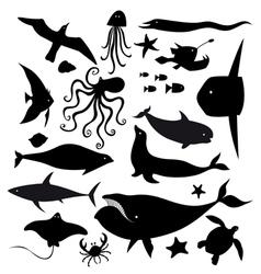 Set of marine animals vector