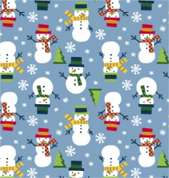 snowman seamless vector image vector image