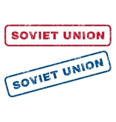 Soviet union rubber stamps vector