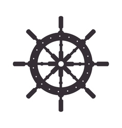 steer ship wheel direction vector image