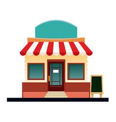 Store market business shop building vector