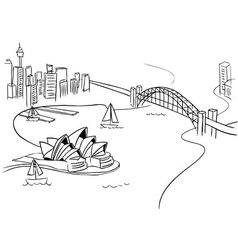 Sydney sketch vector
