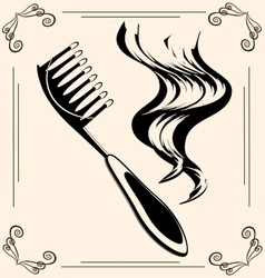 Vintage hairbrush vector