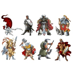 Warriors vector image