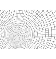 wireframe tunnel vortex technology background vector image vector image