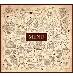 Pattern menu vector image