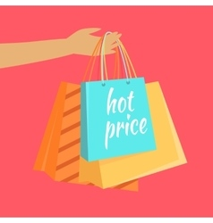 Hot price concept in flat design vector