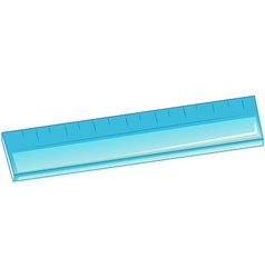A blue ruler vector