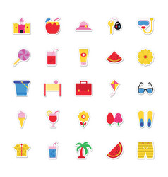 summer and holidays icons 2 vector image