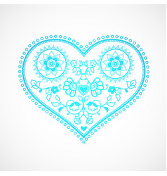 Heart shape ornament for valentines day greeting vector