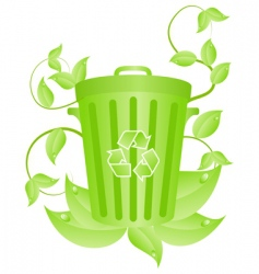 Eco recycling concept vector