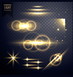 Transparent light effect and lens flare collection vector