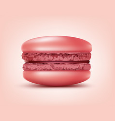 Pink french macaron vector