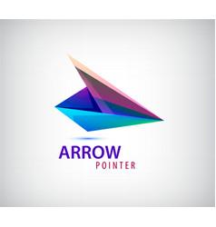 abstract business logo icon design template arrow vector image