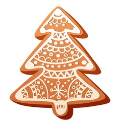 Christmas gingerbread baked cookie isolated vector