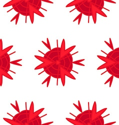Seamless abstract red pattern in eps vector