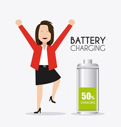 Battery design vector