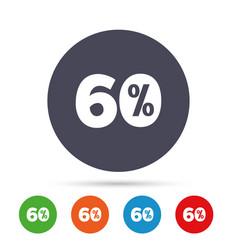 60 percent discount sign icon sale symbol vector
