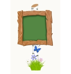 Wooden school board vector