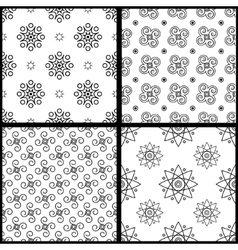 Seamless patterns white vector