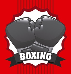 Boxing gloves design vector