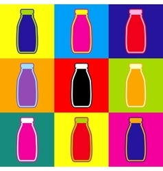 Milk bottle sign vector