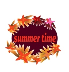 Summer time template for banner postcard with vector